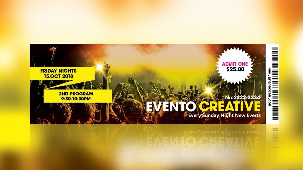 event ticket design photoshop tutorial youtube