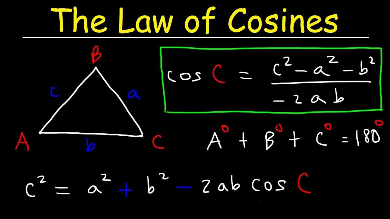 law of cosines, finding angles \u0026 sides, sss \u0026 sas triangles trigonometry SAS Training