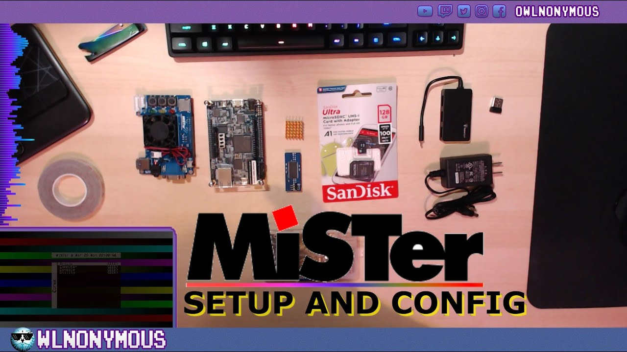 MiSTer FPGA assembly and config