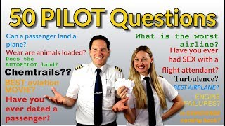 PILOTS answer 50 MOST googled PASSENGER QUESTIONS! Captain Joe + Dutchpilotgirl thumbnail
