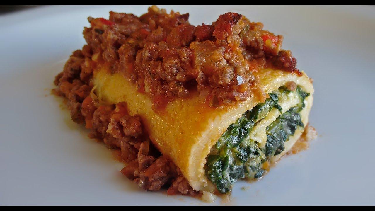 ¡QUIERO COMER! | Canelones de acelga y ricota - Con salsa