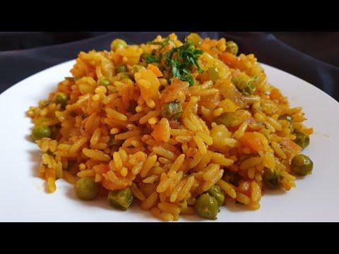 ألذ أرز بالخضار سهل وسريع التحضير في 10 دقائق و بكأس أرز واحد فقط👌