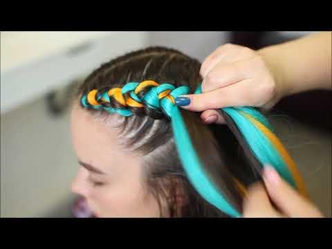 Как плести косы с канекалоном видео