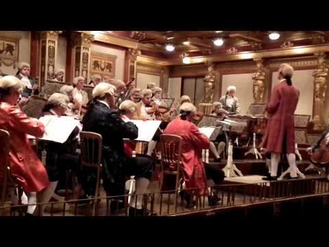 Mozart concert in historical costumes at Wiener Musikverein in Vienna / Part 3