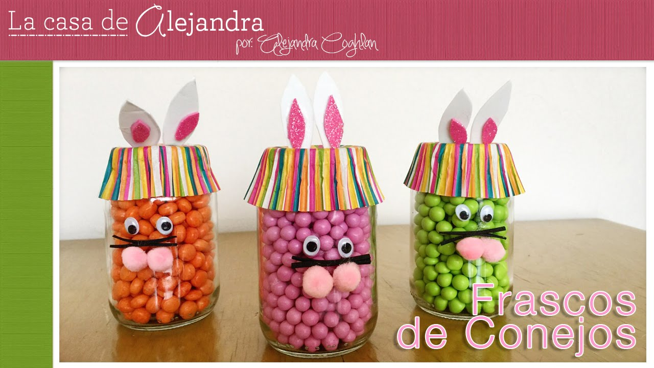 Frascos de conejitos para fiesta diy alejandra coghlan - Diy frascos decorados ...