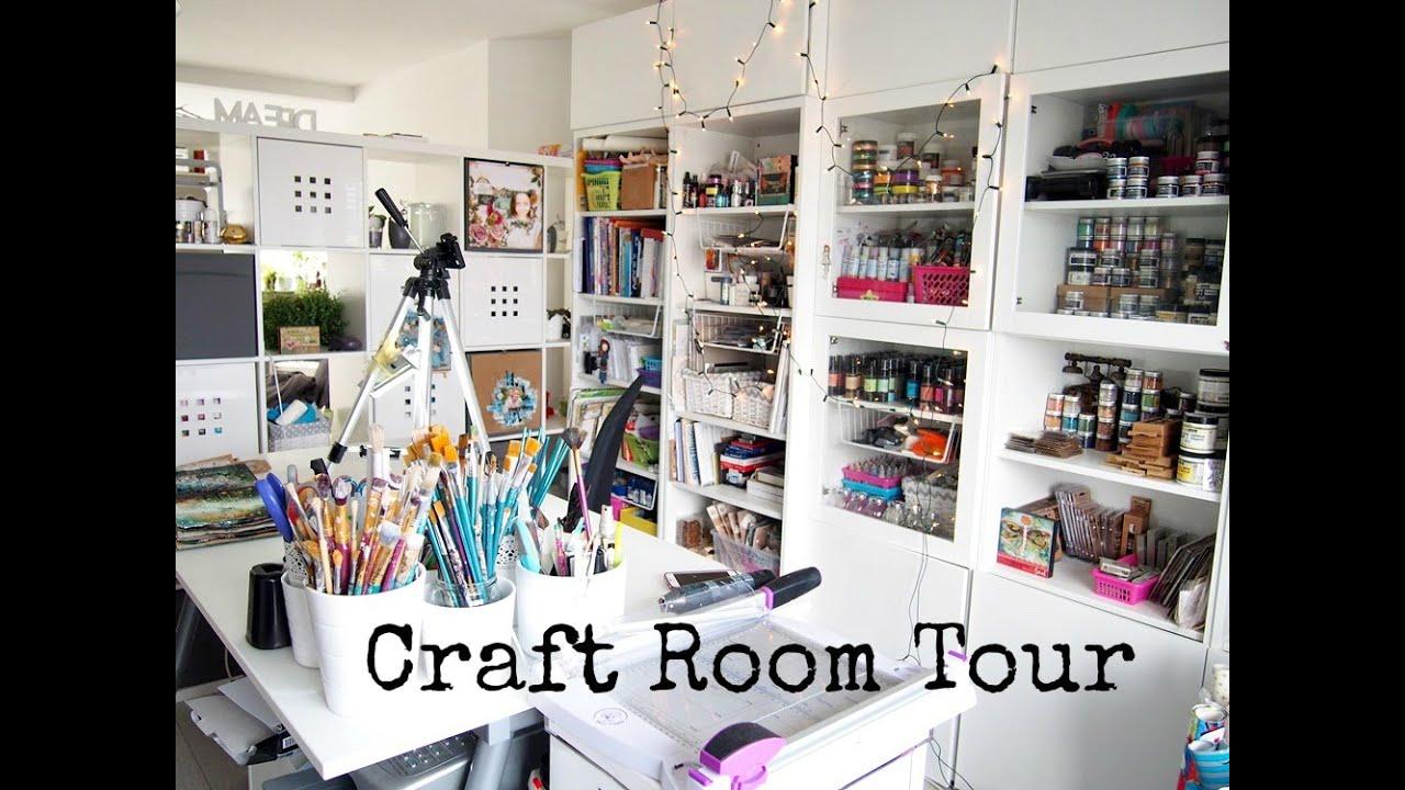 Craft Room Tour ♡ Maremi S Small Art ♡ Youtube
