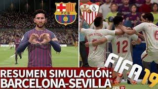 Barcelona - Sevilla | Resumen y goles de la simulación en FIFA 19 | Diario AS