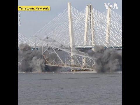 New York phá huỷ cầu Tappan Zee bắc qua sông Hudson (VOA)