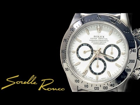 Rolex daytona white zenith movement youtube for Sorelle ronco rolex