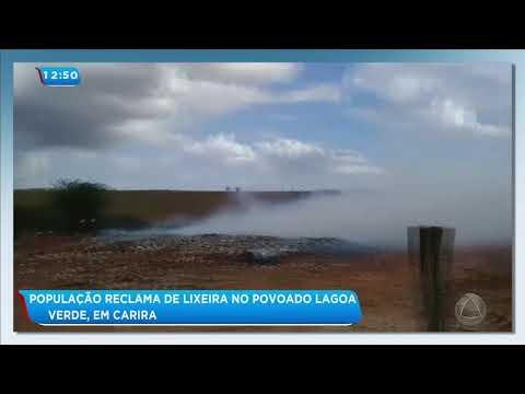 Moradores reclamam de lixeira no Povoado Lagoa Verde em Carira - Balanço Geral Tarde