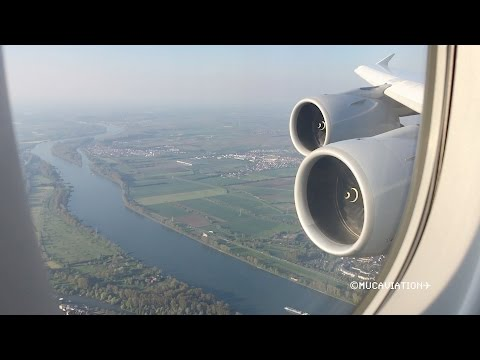 Beautiful Early Morning Lufthansa Airbus A380-800 Landing at Frankfurt [FULL HD]