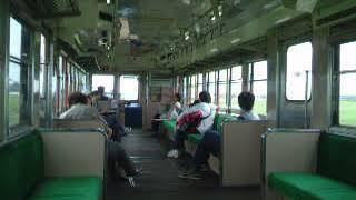 鹿島鉄道(鉾田線)キハ601下り列車内 常陸小川→桃浦  ノッチオフ