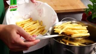 Przepis - Domowe frytki z salsą pomidorową (przepisy kulinarne Przepisy.pl)
