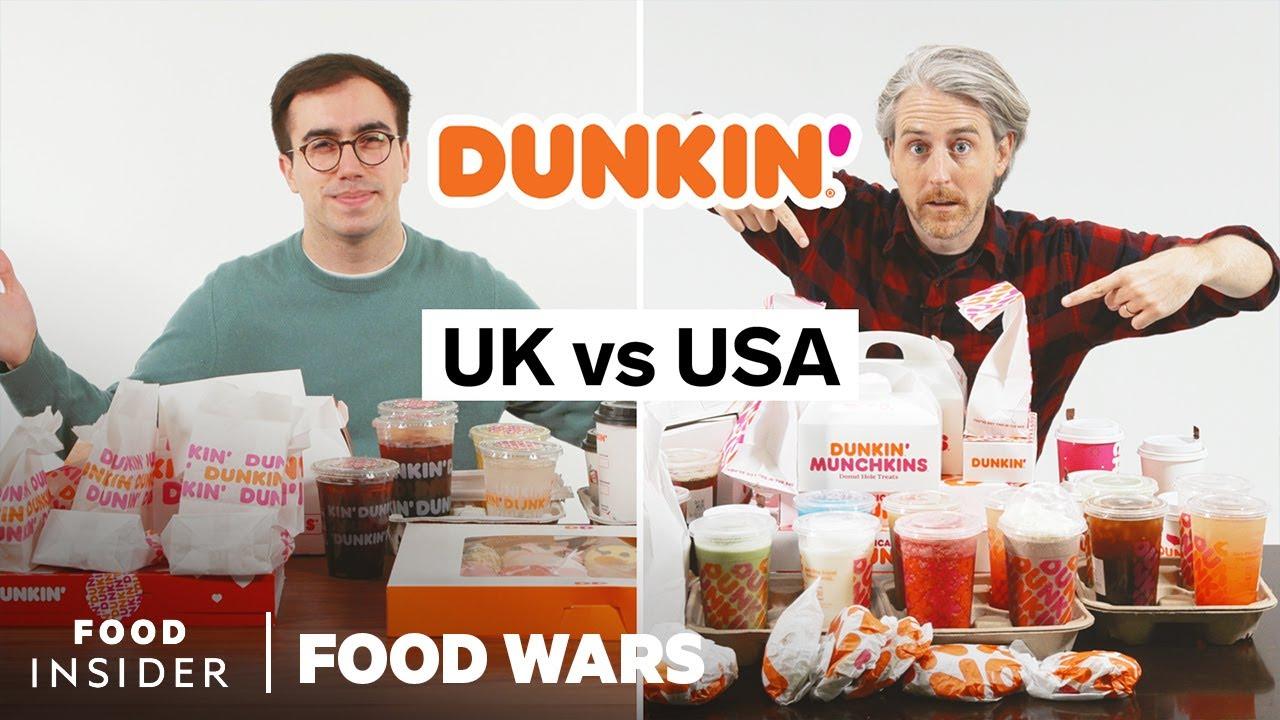 US vs UK Dunkin' | Food Wars