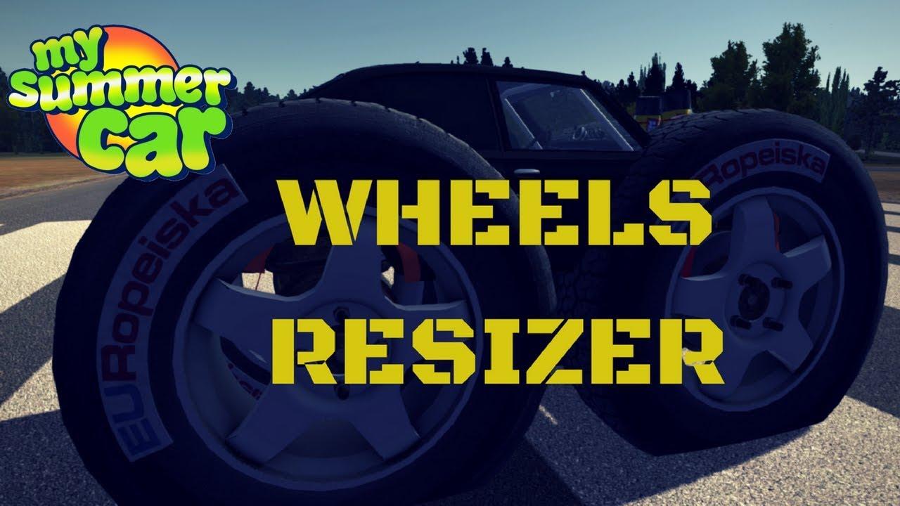 Wheels Resizer My Summer Car 31 Mod Youtube