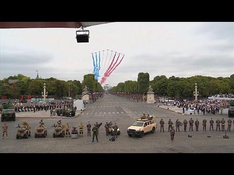 يورو نيوز:شاهد: احتفالات العيد الوطني الفرنسي من جادة الشانزيليزيه…