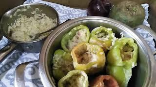 Фаршированный перец без мяса, для веганов или диеты