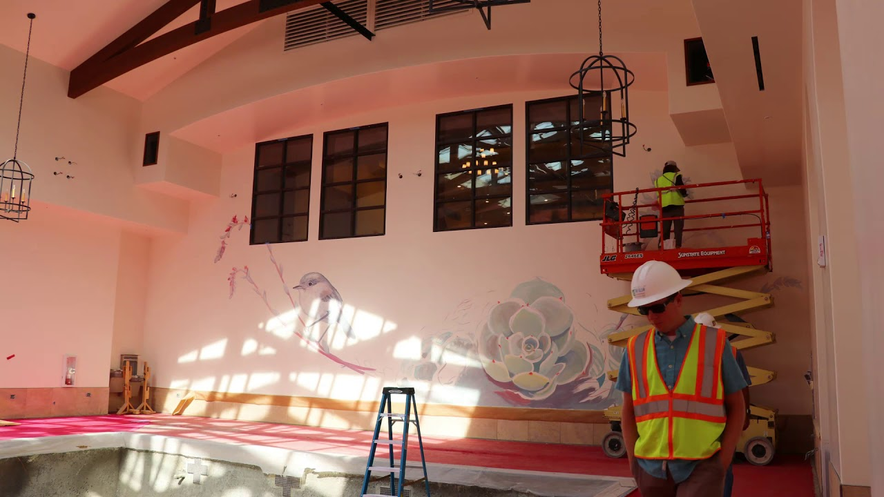 The Glen at Scripps Pool Room Mural Creation Time Lapse