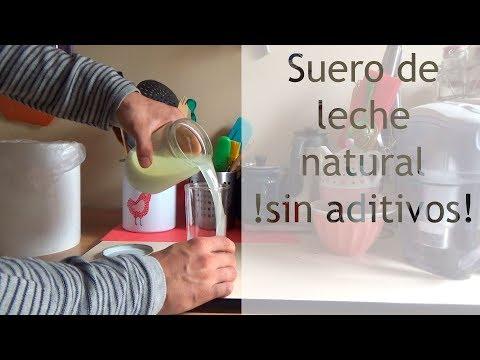 Suero de leche natural casero, sin aditivos