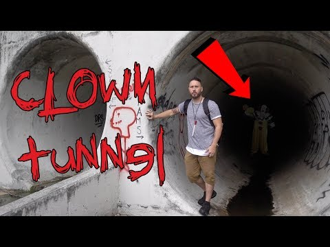 HAUNTED CLOWN TUNNEL (GOING ALL THE WAY NEW HAUNTED TUNNEL)