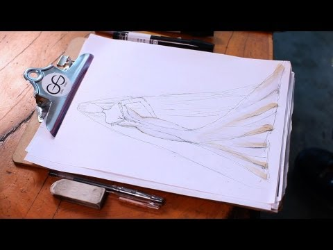 How to Draw a Wedding Dress | Fashion Sketching