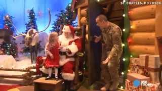 Santa helps soldier dad surprise 3-year-old daughter