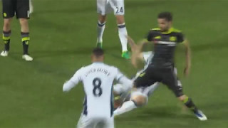 West Brom vs Chelsea Johnny Evans with an outrageous turn vs  Cesc Fabregas