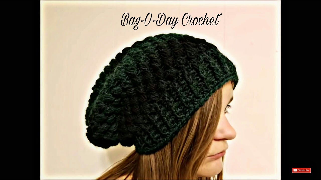 Crochet How To Crochet Ladies Or Mens Unisex Puffed Slouchy Hat