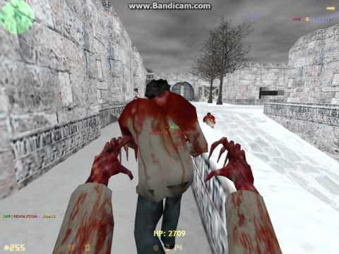 играем в Counter-Strike 1.6 ( люди против зомби)