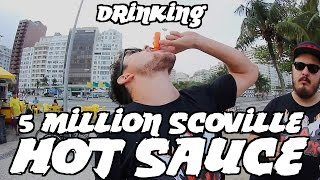 Drinking La Fênix Hot Sauce! W/ La Fênix & Nub Tv