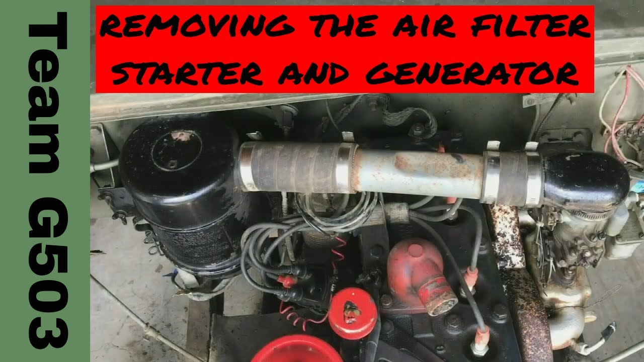 Team G503 Removing The Starter  Generator  Air Filter Assembly Fro A 1943 Willys Mb