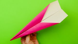 як зробити літак який далеко летить з паперу