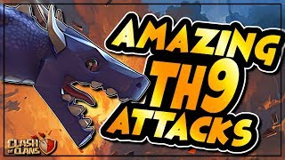 AMAZING NEW TH9 ATTACKS and SOLID EXAMPLES OF LALOON VARIATIONS | Clash of Clans