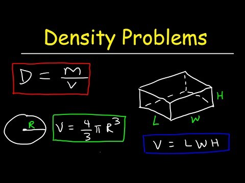 Density Chemistry Practice Problems, Examples, Formula & Equations