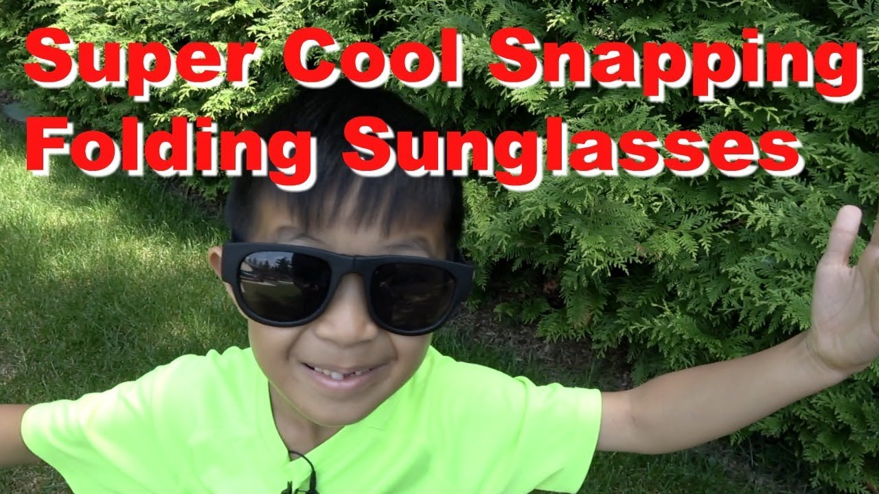 2cbe062e73 Super Cool Snapping Folding Sunglasses for Kids or Adults - YouTube
