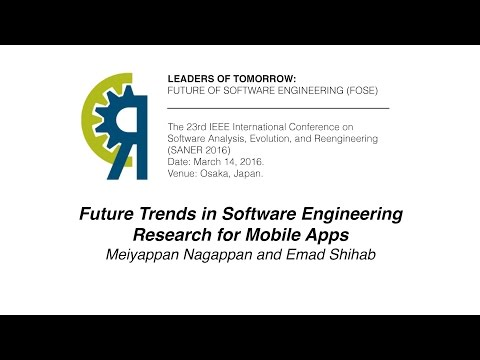 Future Trends in Software Engineering Research for Mobile Apps