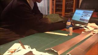 Master Sword Papercraft Timelapse (part 1)