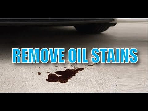 Remove oil stains from concrete youtube for Removing grease stains from concrete