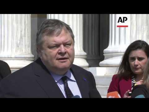 EU foreign ministers arrive for summit; Ashton, Hague and Venizelos comment on Ukraine
