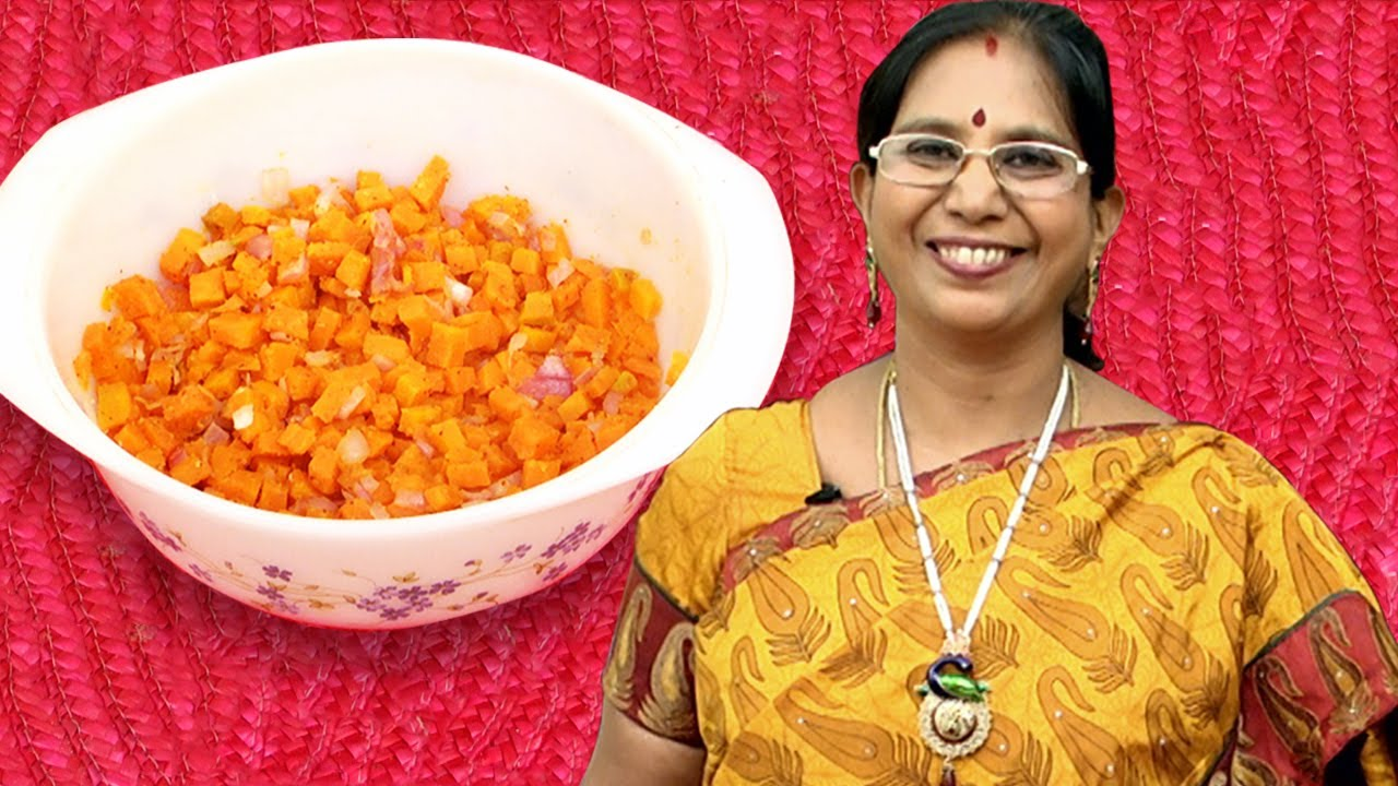Microwave Oven Cooking Carrot Dry Curry Mallika Badrinath Recipes Poriyal Recipe You