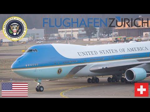PRESIDENT TRUMP Arrives ZURICH   Switzerland Visit   WEF 2020 [4K]