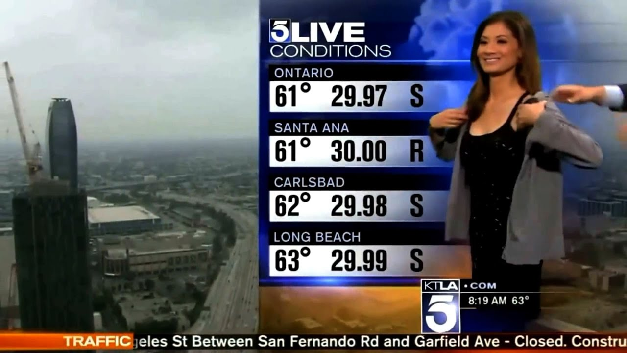 News Channel Weather girl Asked To Cover-Up On-Air
