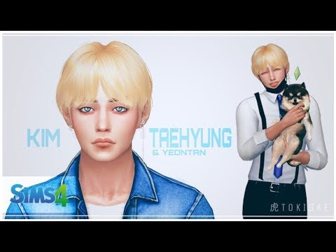 THE SIMS 4   CAS  - BTS Kim Taehyung & Yeontan (+ Download links)