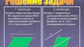 Параллельность прямых и плоскостей
