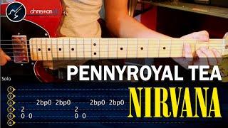 """Cómo tocar """"Pennyroyal Tea"""" de Nirvana en guitarra - (HD) Tutorial Acordes + SOLO - christianvib"""