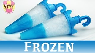 Repeat youtube video FROZEN JELLO TIP POPSICLES - ice lolly block pop - disney movie princess Elsa Anna