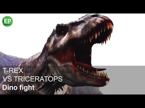 DINO FIGHT | T-REX VS TRICERATOPS | EN