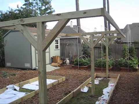 Mittleider gardening how to build t frames for vertical for How to make a vertical garden frame