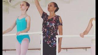Pointe class at Ballet des Amériques