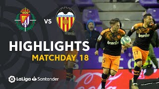 Highlights Real Valladolid vs Valencia CF (1-1)